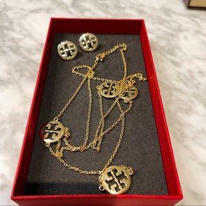 Tory Burch Long Necklace & Earrings